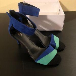 """Cato Blue Green 3"""" Heels, NIB, 9W"""